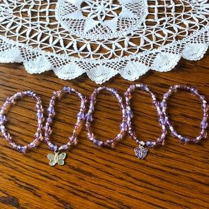 FREE W/$20 ORDER Set of 5 Beaded Bracelets